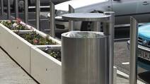 GEO-Litter-Bin-Rhino-RS004-stainless-steel-bollards-and-Artemide-Planters-Mayflower-Retail-Park-Basildon-8269