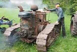 Fredagsvideo: Veteranmaskine startes med patron