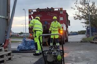 Nedtrængning af overfladevand skader vejkassen