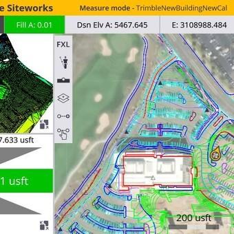Trimble Siteworks landmåling