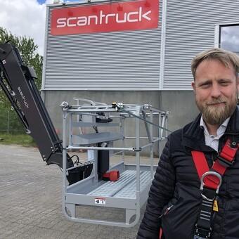 Nyt sikkerhedssystem til Manitous bomlifte - STARK købte første model