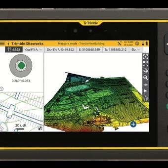 Trimble T7 tablet til bygge- og anlægsopgaver - håndholdt computer til entreprenøren