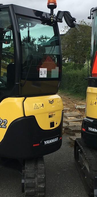 Se den tydelige forskel på Yanmar VIO- og SV-serien