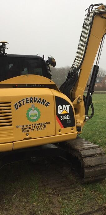 Sprit nye CAT 308E2 Gravemaskine med Topcon system