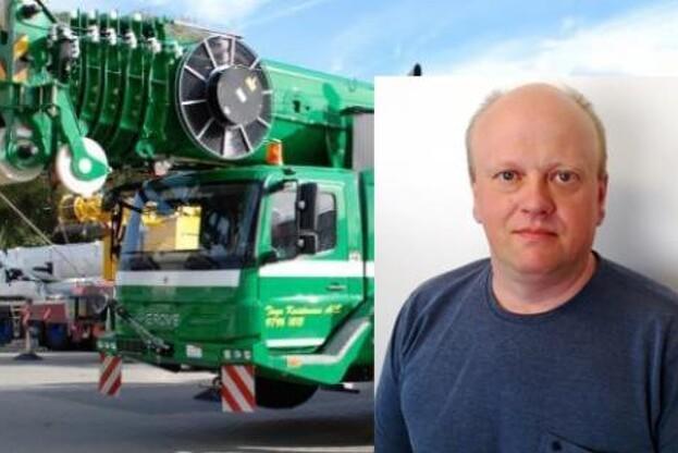 Nils Bjerre Jakobsen skal nu stå i spidsen for det hold, der skal tage sig af maskiner som denne Grove 5130-2, der blev afleveret til transportvirksomheden Tage Kristensen A/S for godt et halvt år siden.