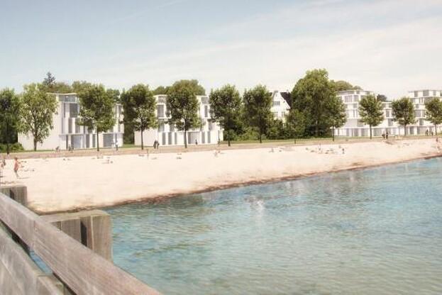 Sådan vil Strandpromenaden komme til at tage sig ud i Schmidt Hammer Lasse Architects? streg.