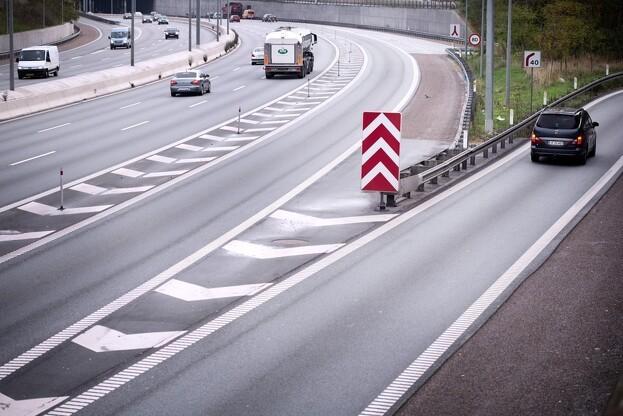 2. etape af motorvejen er et stykke på cirka seks kilometer. Foto: Vejdirektoratet.