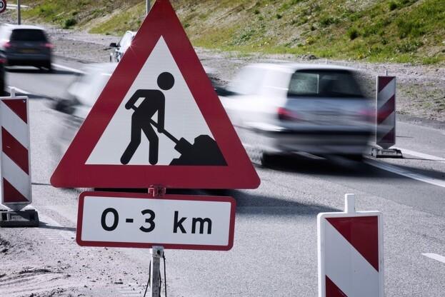 Den første stykke af Holstebromotorvejen, der åbnede i maj, er ujævn. Pressefoto: Vejdirektoratet.
