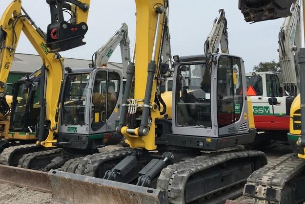 Otte nye Wacker Neuson gravemaskiner til GSV