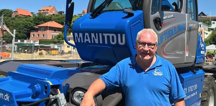 Blå Manitou har indtaget Vestjylland