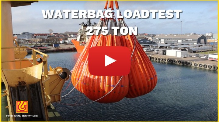 Waterbag-loadtest på 275 Ton - Fyns Kran Udstyr A/S