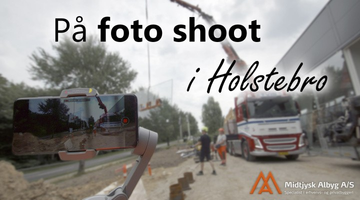 På fotoshoot i Holstebro