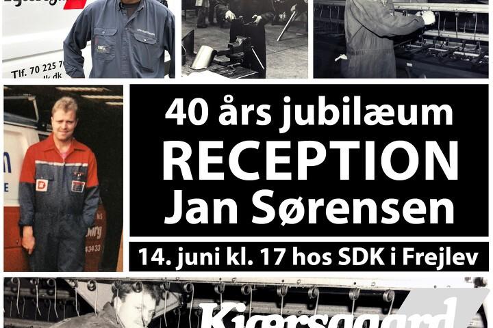 40 års jubilar hos S.D. Kjærsgaard