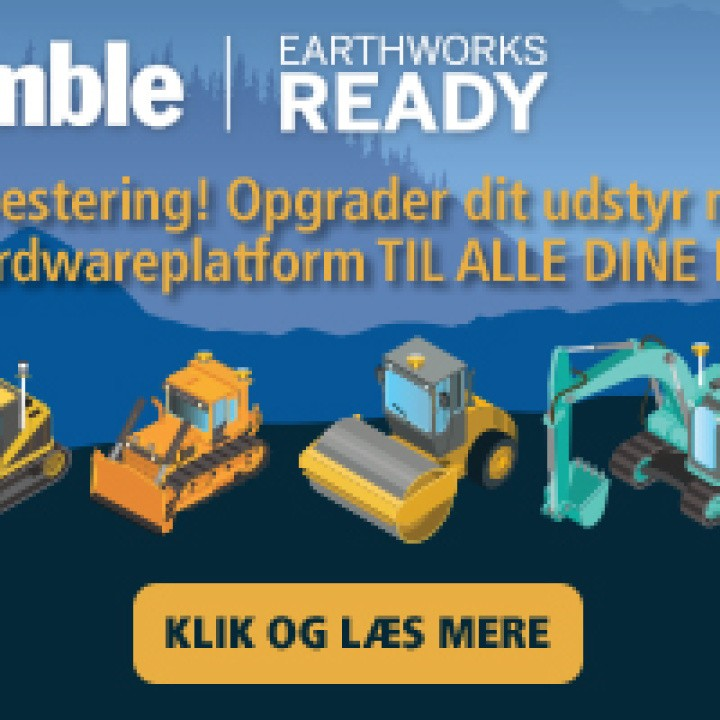 Opgrader dit udstyr med Trimble Earthworks maskinstyring - til alle dine maskiner