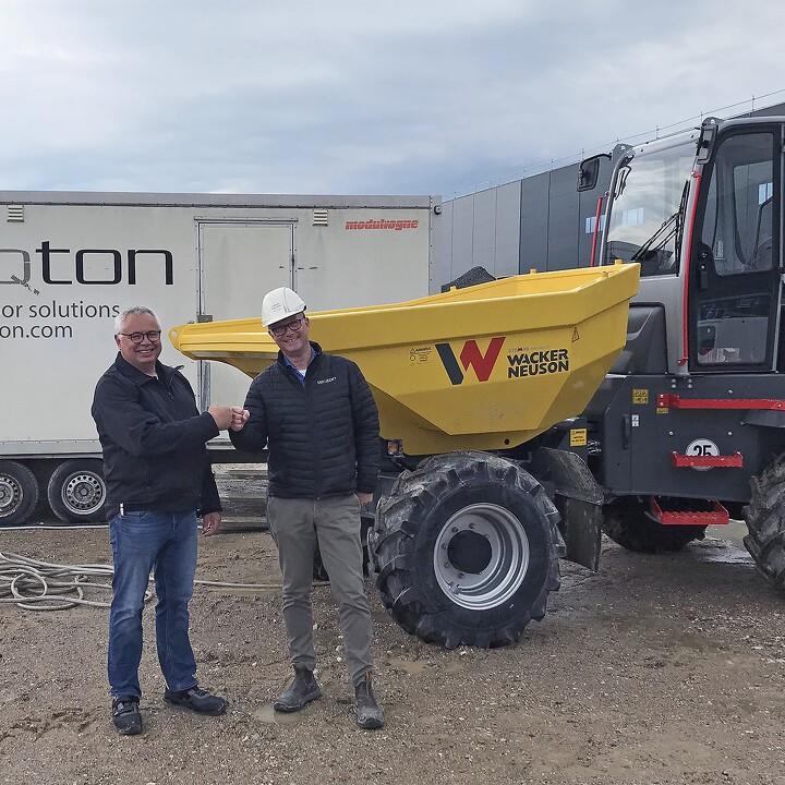 Forhandler-forventninger til nye Wacker Neuson-dumpere