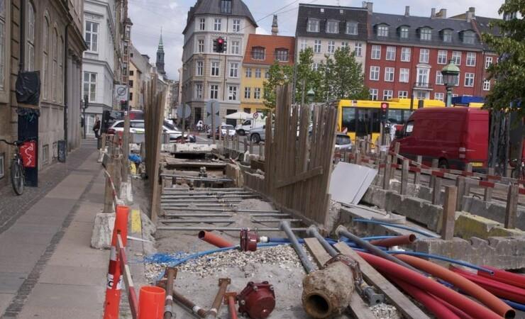 Vejarbejde i København så langt øjet rækker