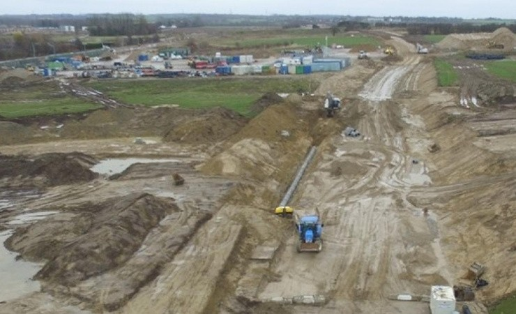 Bro-byggeplads skaber bund for Vinge Boulevard