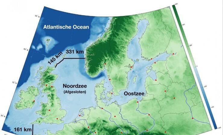 Hollandsk forslag: Indkreds Nordsøen med 637 kilometer dæmning