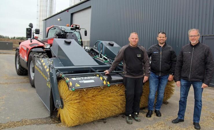 Nyt biogasanlæg fejes med den store kost