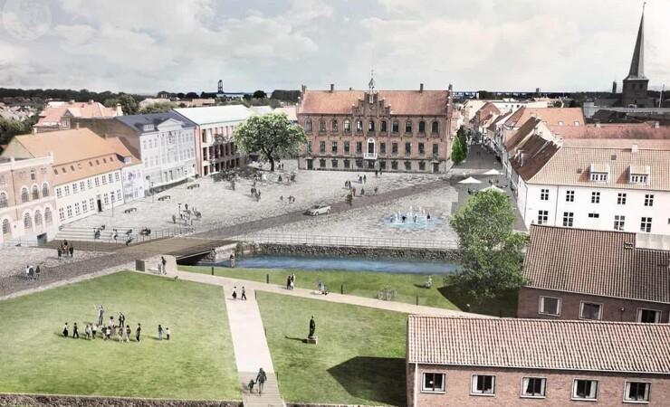 Nyborg Torv fletter nutid og historie sammen