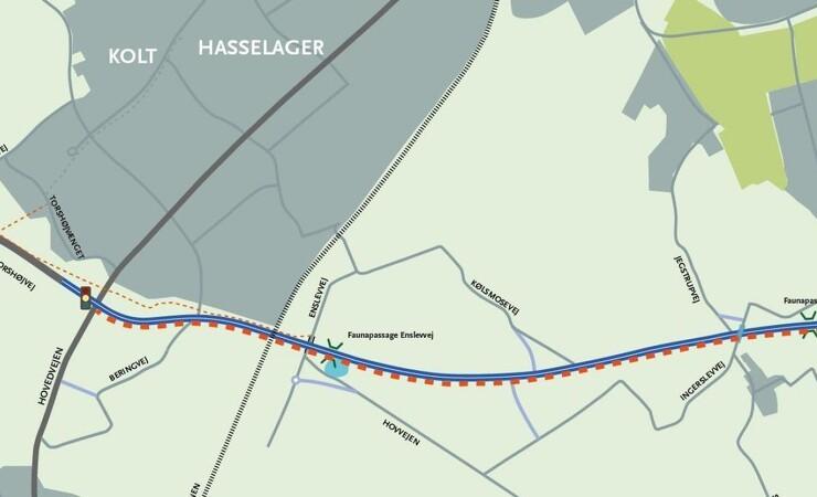 Ny vej ved Aarhus skal udvides til tre spor