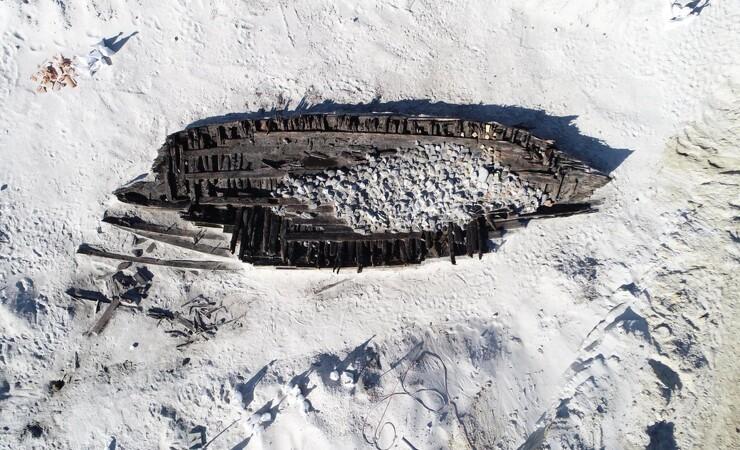 Skibsvrag dateret til 1700-tallet og bygget i Norge