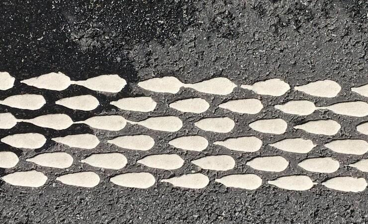 Ny type vejstribe på danske veje