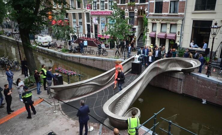 Intelligent, 3D-printet bro med dansk teknologi indvies i Amsterdam
