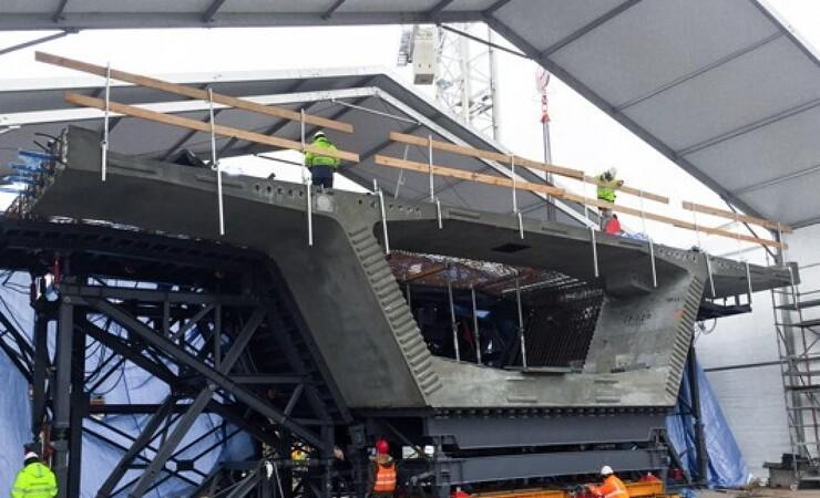 100 ton tunge broelementer skal køres til Frederikssund