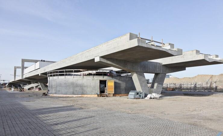 Store mængder af rå beton tager form i Nordhavn
