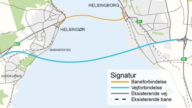 Vejdirektoratet ser på ny fast forbindelse til Sverige