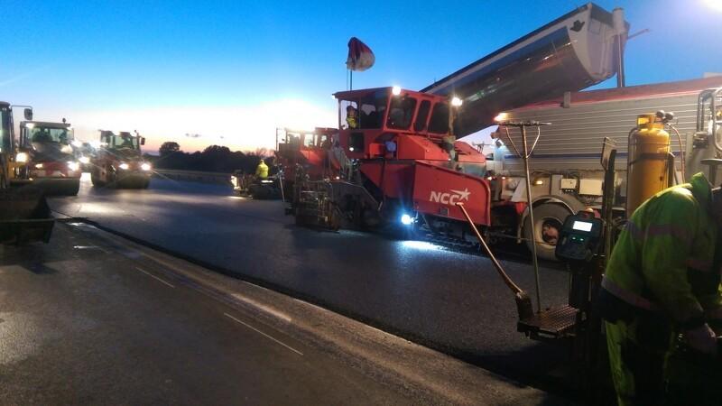 NCC lægger en kvart million ton asfalt på Fyn