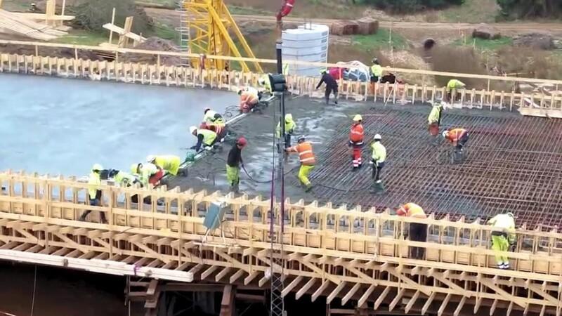 Tre nye betonbroer til ny midtjysk omfartsvej