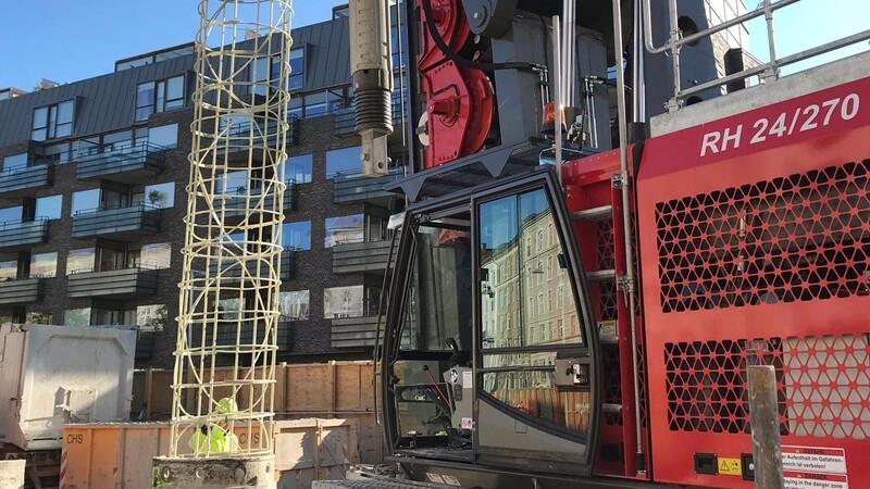 Sekantløsning i glasfiber sænkes i København