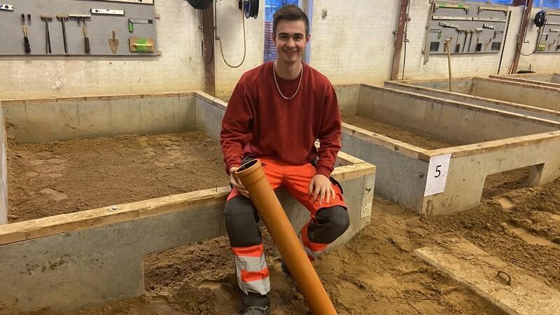 Søren vandt DM i kloakering - ligesom sin storebror og sin lærer
