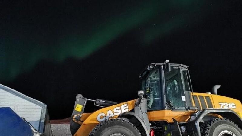 Case rydder sne nord for polarcirklen