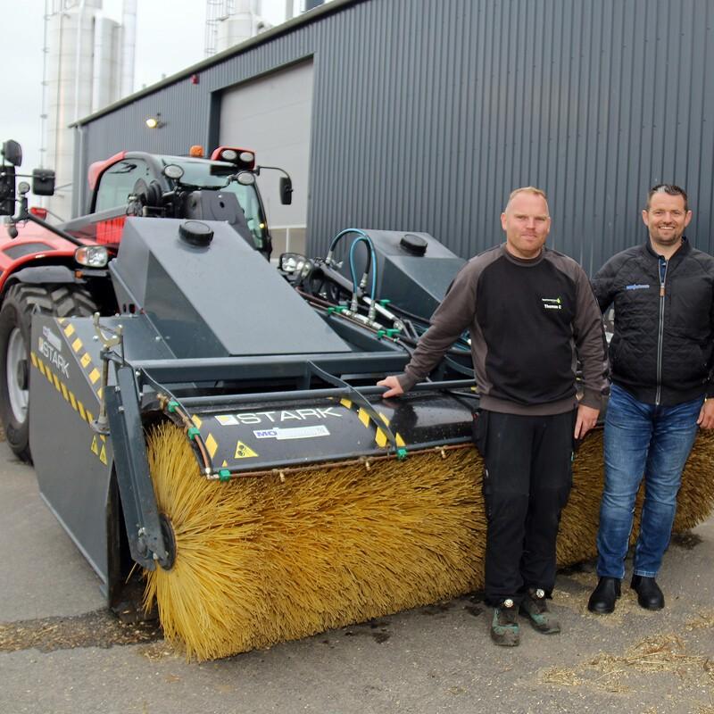 Nyt biogasanlæg med en alsidig fejedreng