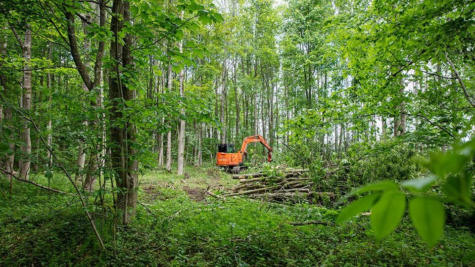 3. Modificeringen af Hitachi ZX85USB-5A gør maskinen ideel til arbejdet i skoven